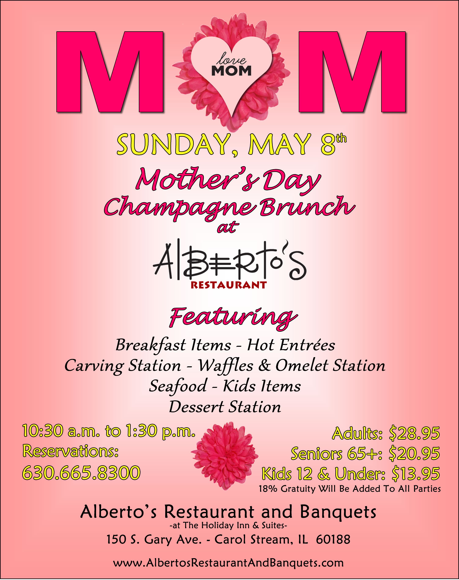 Mother S Day Champagne Brunch At Alberto S Restaurant In